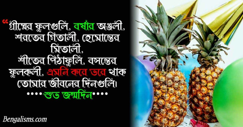 happy birthday bengali poem