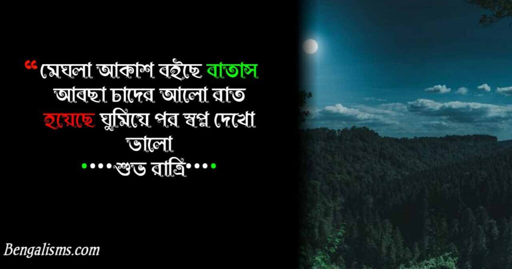good night bengali poem