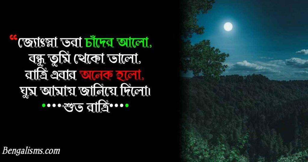 good night shayari bangla