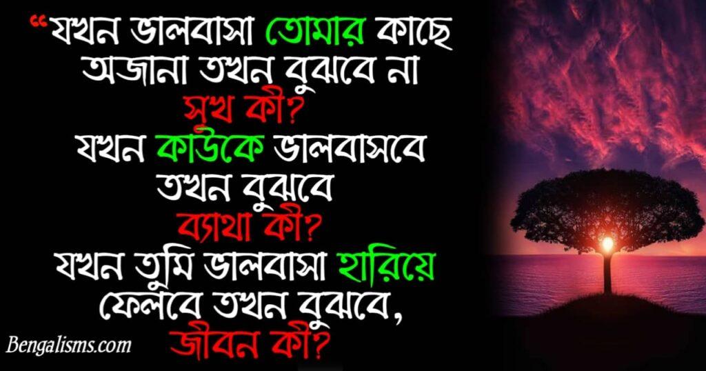 sad bengali status