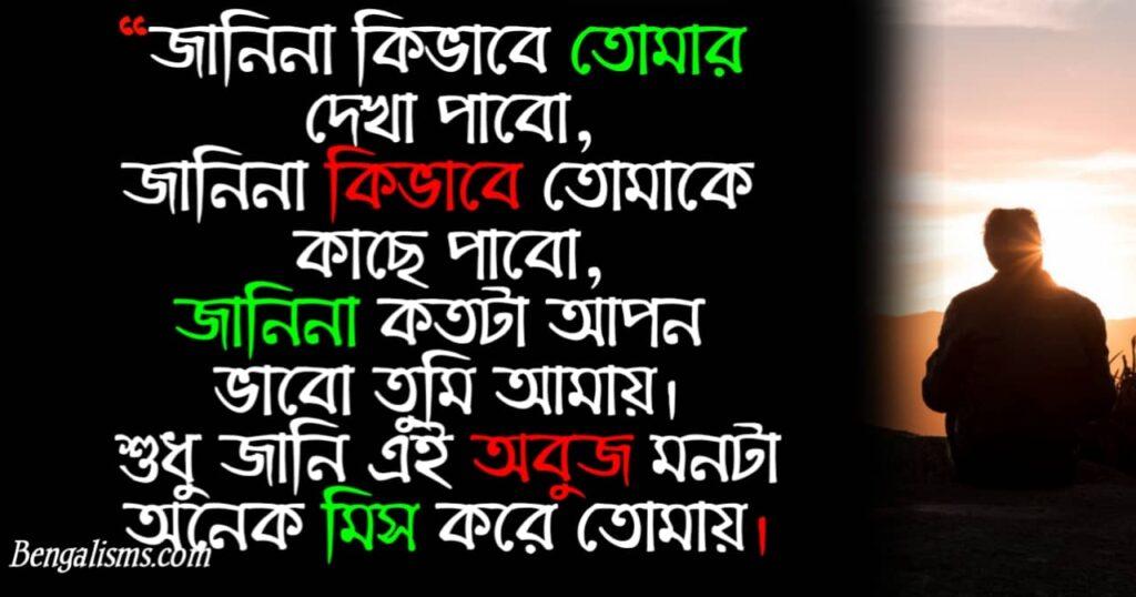 miss you bengali shayari